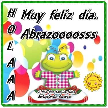 Holaaa, Muy feliz día. Abrazoooosss