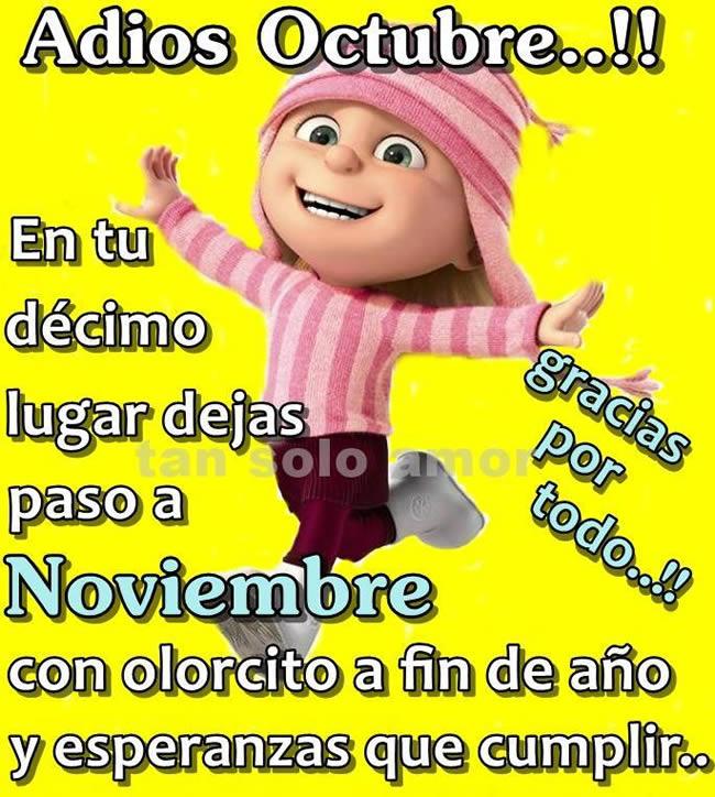 Adiós Octubre!! Gracias por todo!!