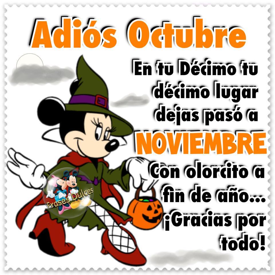 Adiós Octubre ¡Gracias por todo!