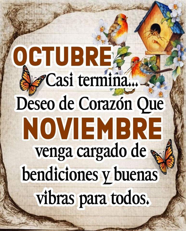 Octubre Casi termina... Deseo de Corazon...