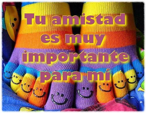 Tu amistad es muy importante para mí