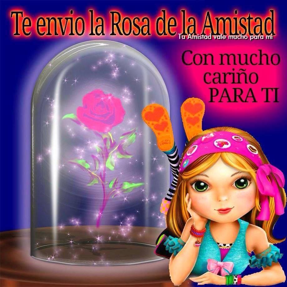 Te envío la Rosa de la Amistad