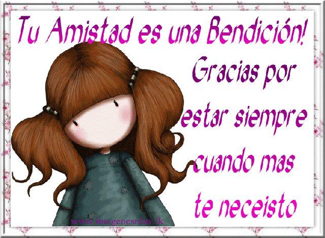 Tu amistad es una gran bendición!