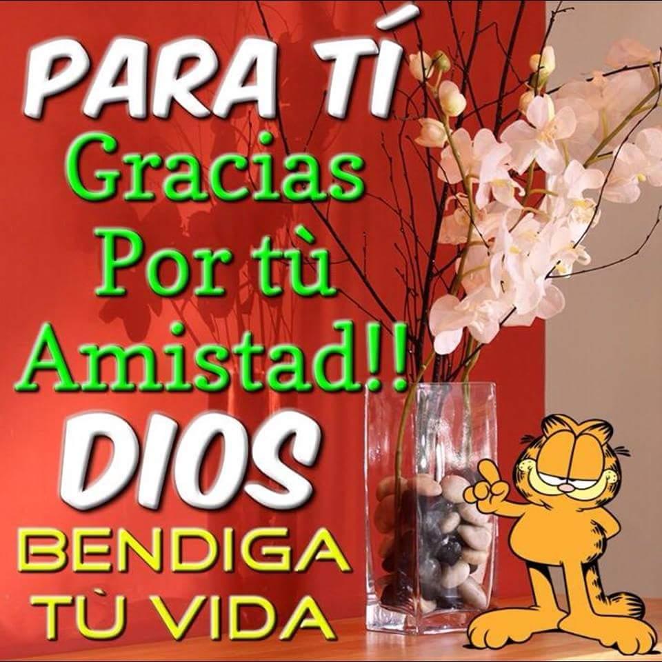 Para ti. ¡Gracias por tu Amistad! Dios bendiga tu Vida