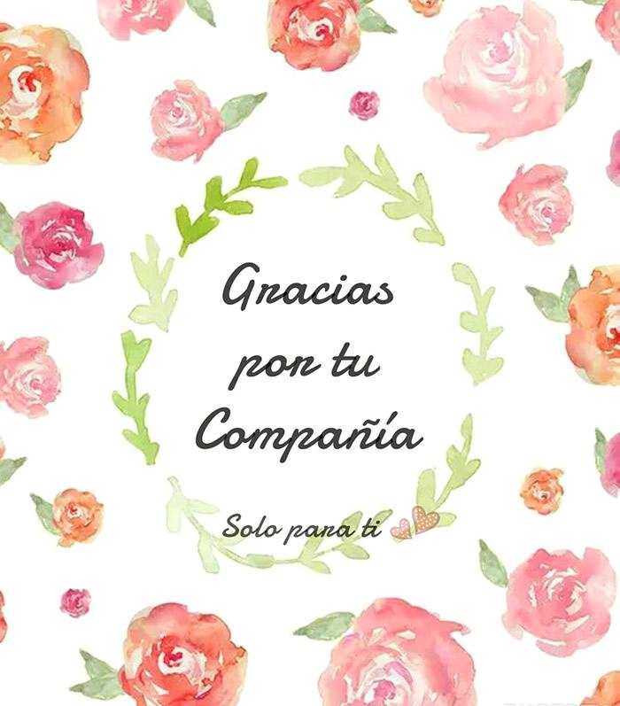 Gracias por tu compañía