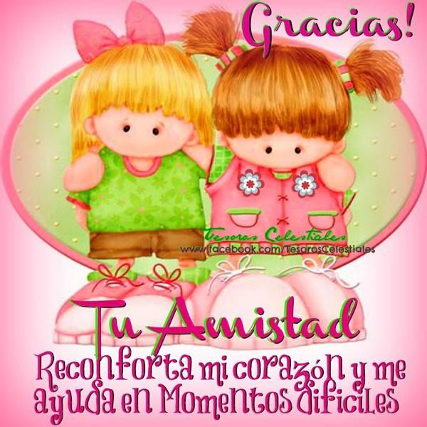 Gracias! Tu amistad reconforta mi corazón y me ayuda en momentos difíciles