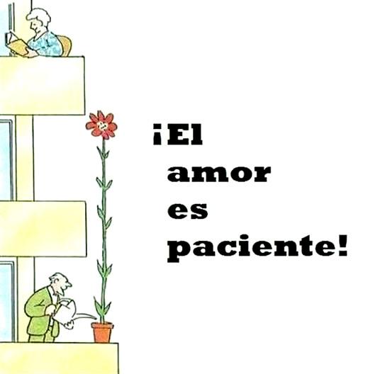 ¡El amor es paciente!