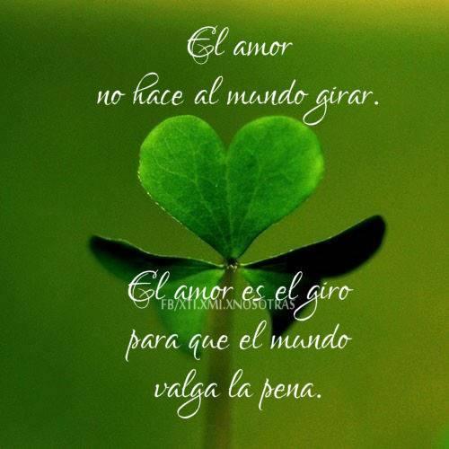 El amor no hace al mundo girar