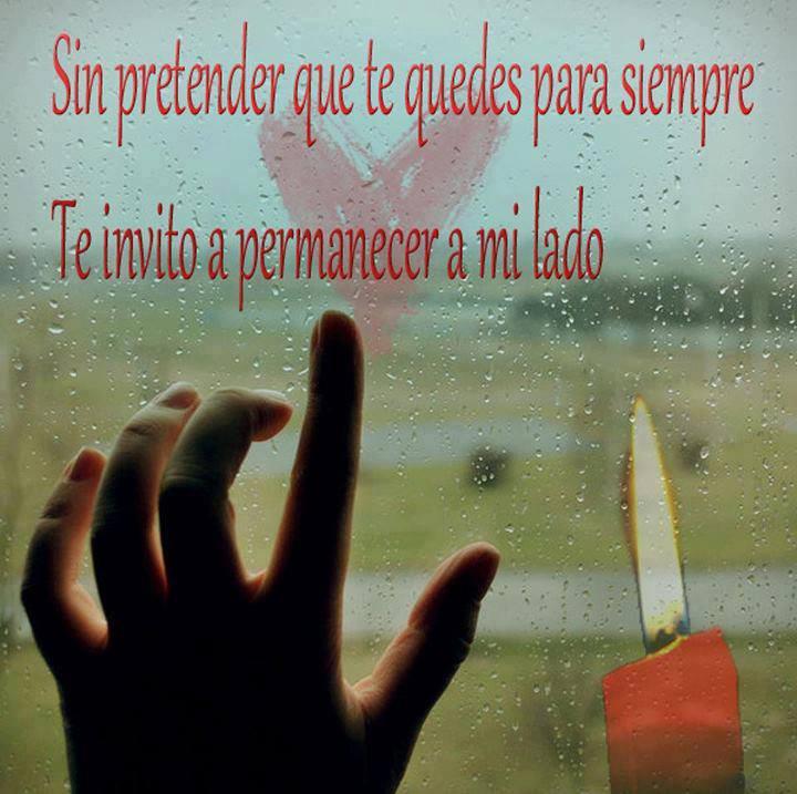 Sin pretender que te quedes para siempre...