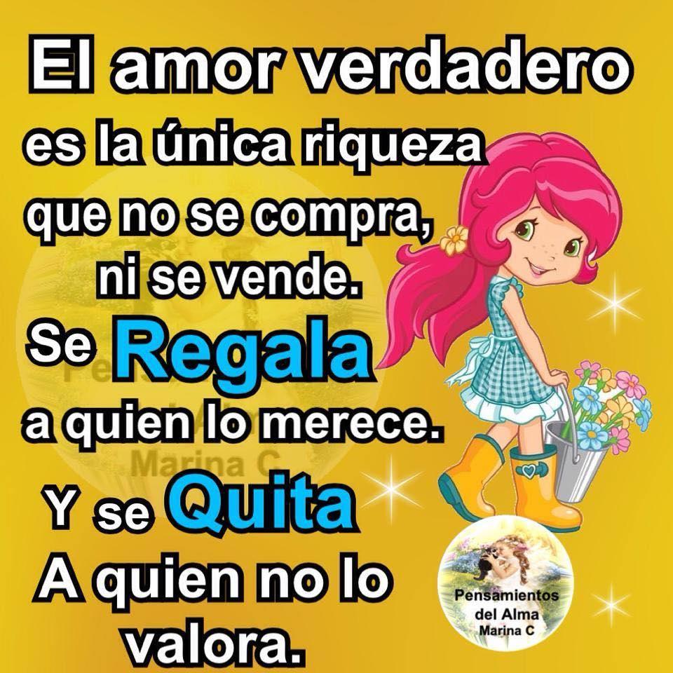 El amor verdadero es la única riqueza que no se compra...