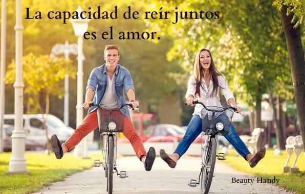 La capacidad de reír juntos es el amor