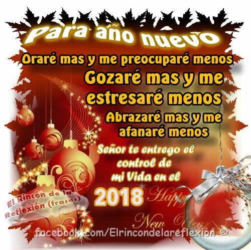 Para año nuevo, Oraré mas y me preocuparé menos...