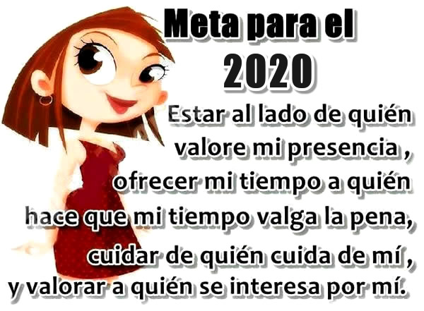 Meta para el 2020...