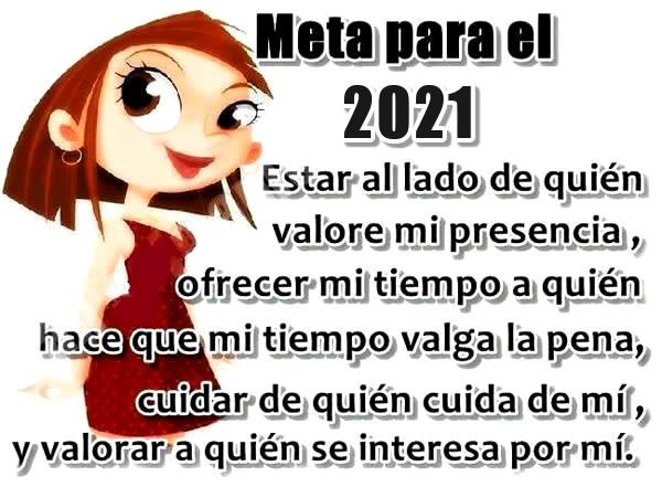 Meta para el 2021... Estar al...