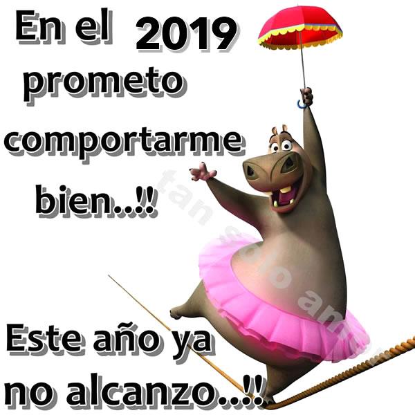 En el 2019 prometo comportarme bien!! Este año ya no alcanzó!!