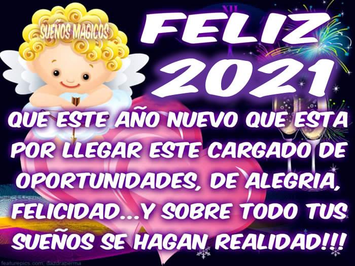 Feliz 2021. Que este año nuevo que esta...