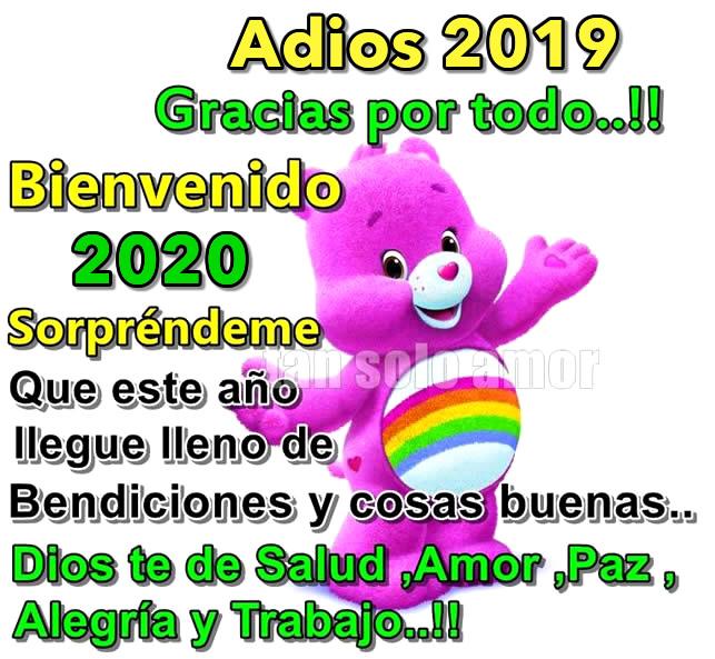 Adios 2019 Gracias por todo! Bienvenido...
