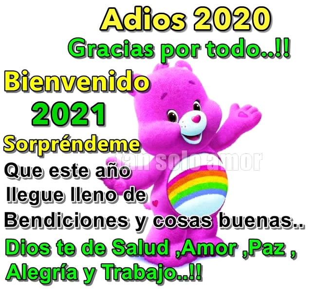 Adios 2020, Gracias por todo! Bienvenido...
