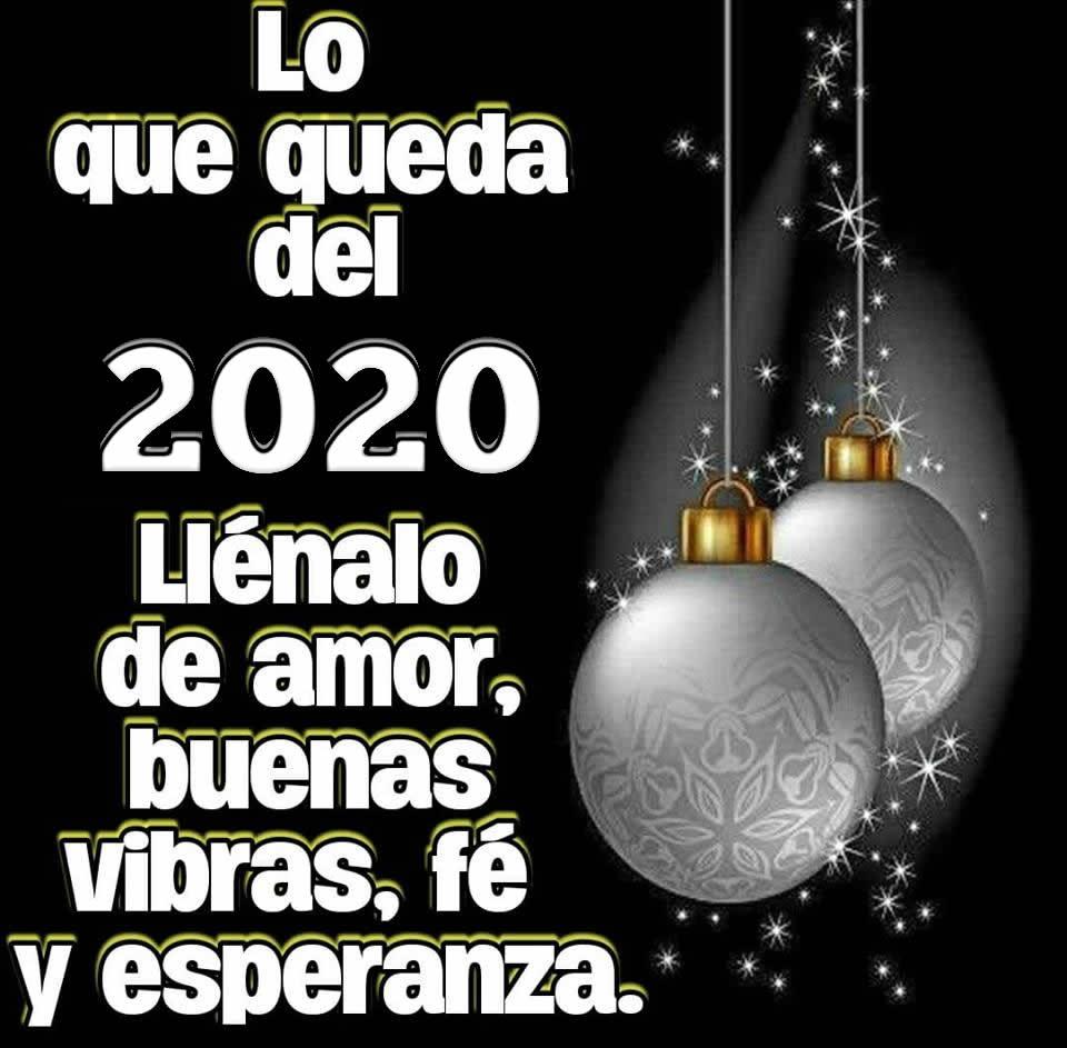 Lo que queda del 2020 llénalo de amor...