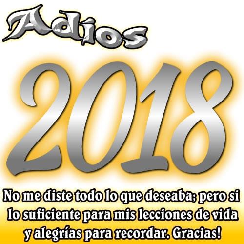 Adios 2018