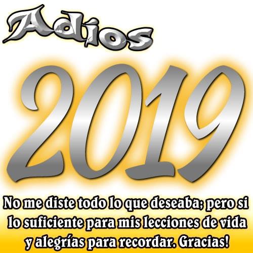 Adios 2019