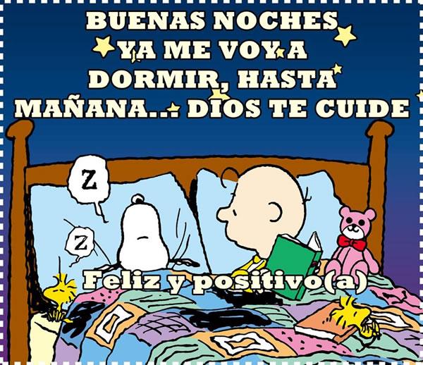 Buenas Noches, ya me voy a dormir, hasta mañana... Dios te cuide