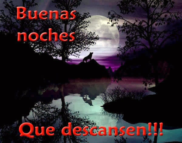 Buenas noches, que descansen!!