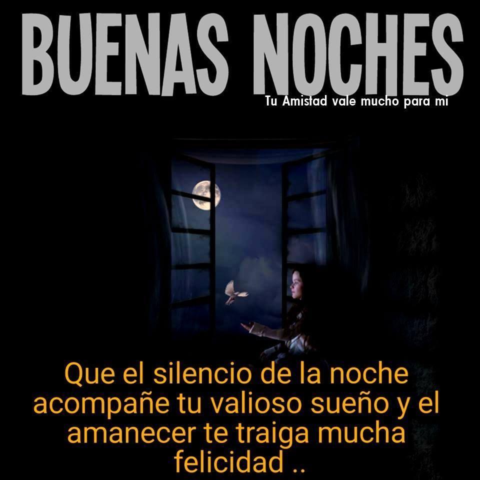 Que el silencio de la noche acompañe tu valioso sueño...
