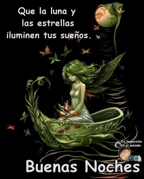 Que la luna y las estrellas iluminen tus...