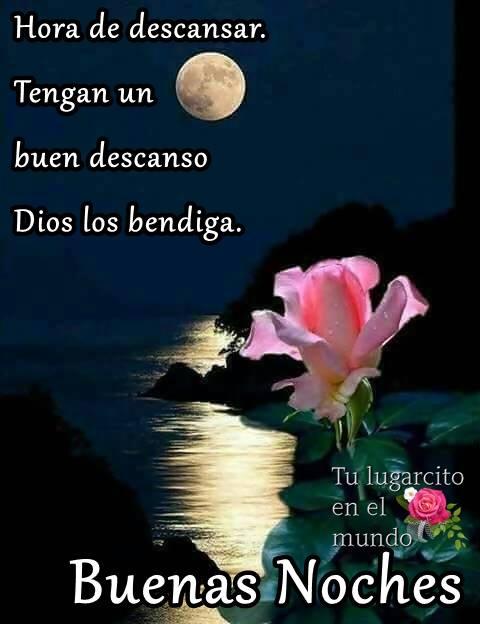 Dios los bendiga. Buenas Noches