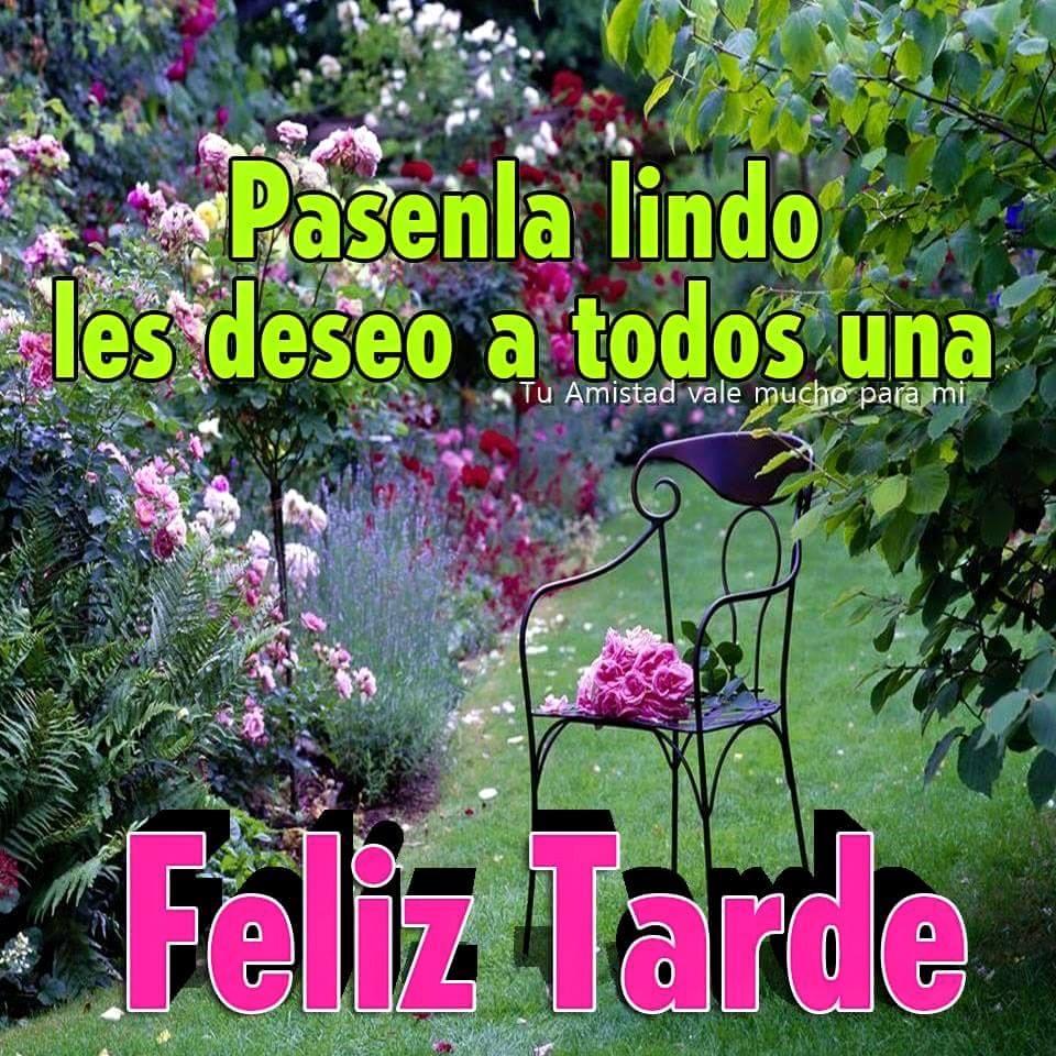 Pasenla lindo les deseo a todos una Feliz Tarde