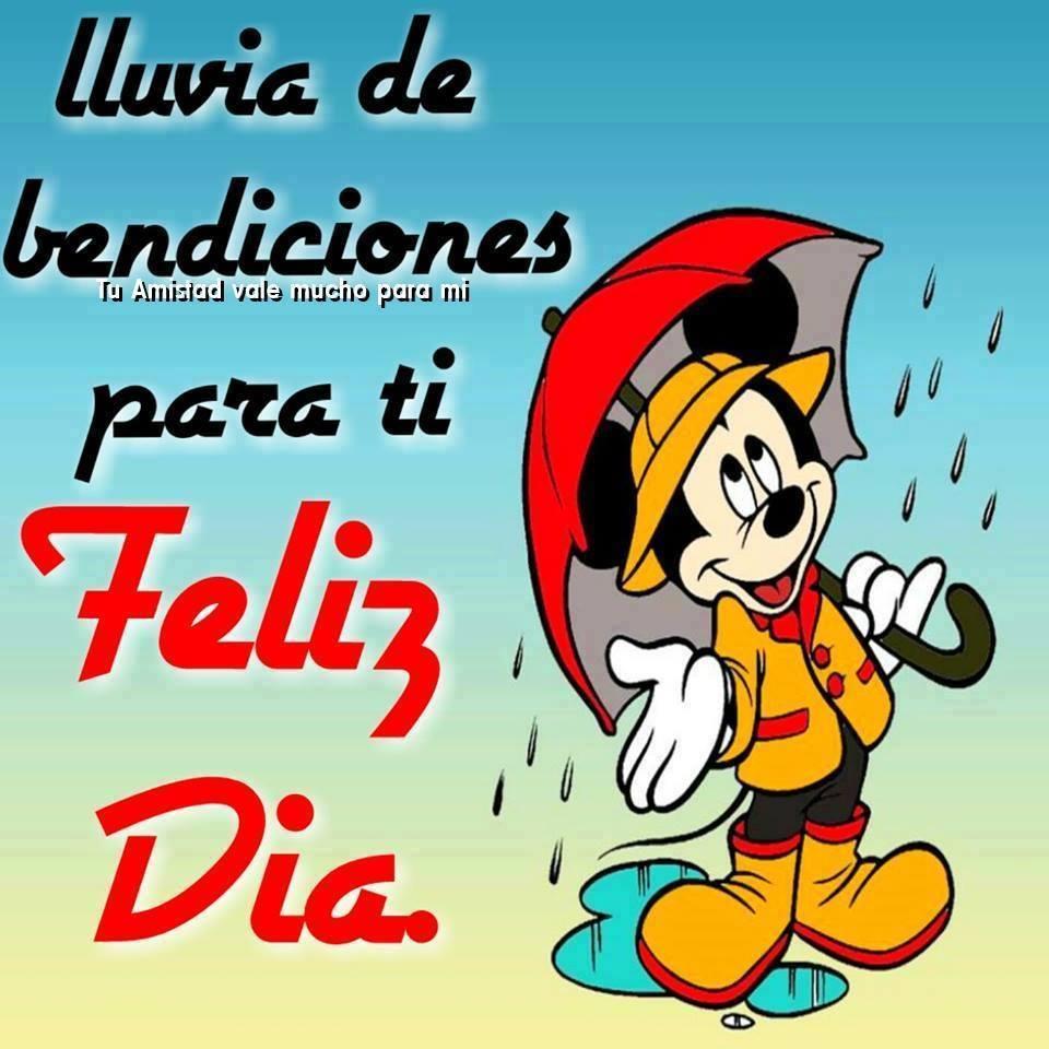 Lluvia de bendiciones para ti. Feliz Día