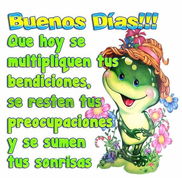Buenos Días!!! Que hoy se multipliquen tus bendiciones...