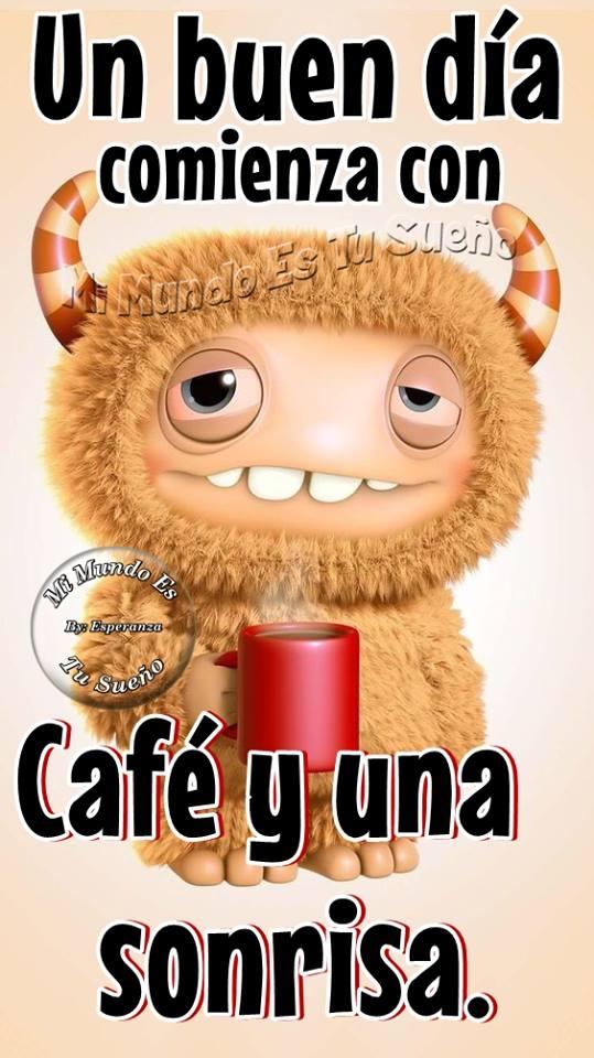 Un buen día comienza con café y una sonrisa