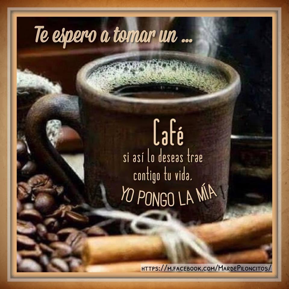 Te espero a tomar un... café
