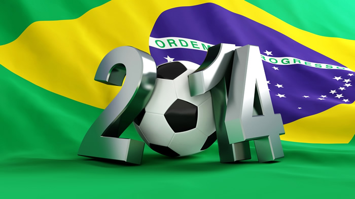 Bandera del Brasil Copa 2014