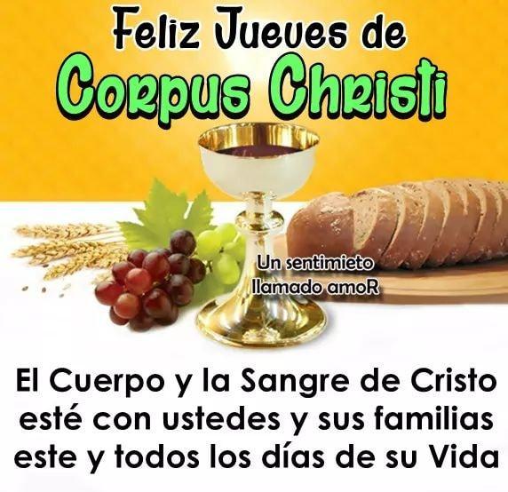 Feliz Jueves de Corpus Christi