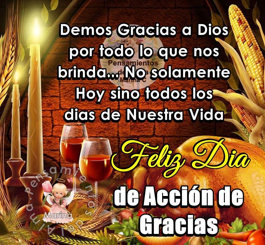 Demos Gracias a Dios por todo lo que nos brinda...