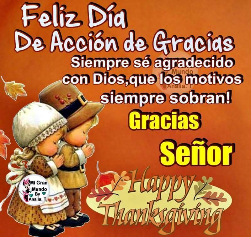 Feliz día de Acción de Gracias, Gracias Señor