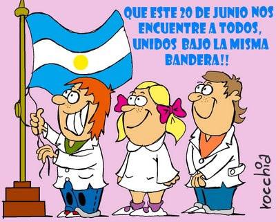 Que este 20 de junio nos encuentre a todos, unidos bajo la misma bandera!!