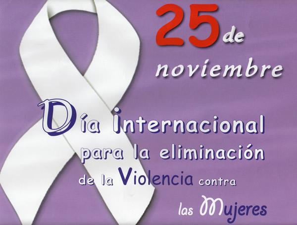 25 de noviembre, Día internacional para la eliminación de la Violencia contra las Mujers