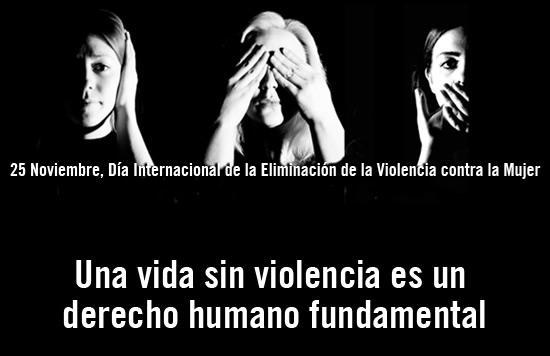 25 Noviembre, Día Internacional de la Eliminación de la Violencia contra la Mujer