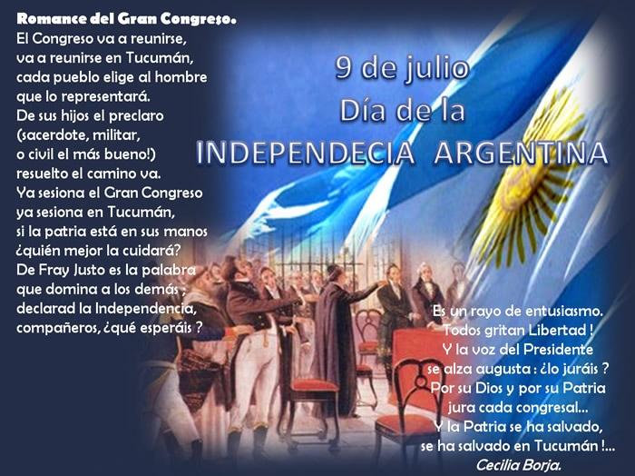 9 de julio, Día de la Independencia Argentina
