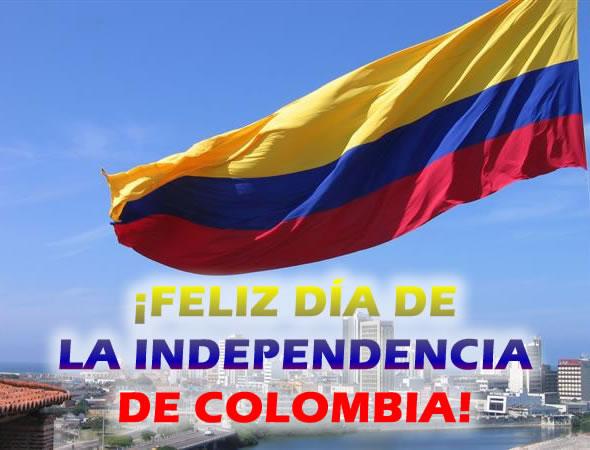 ¡Feliz Día de la Independencia de Colombia!