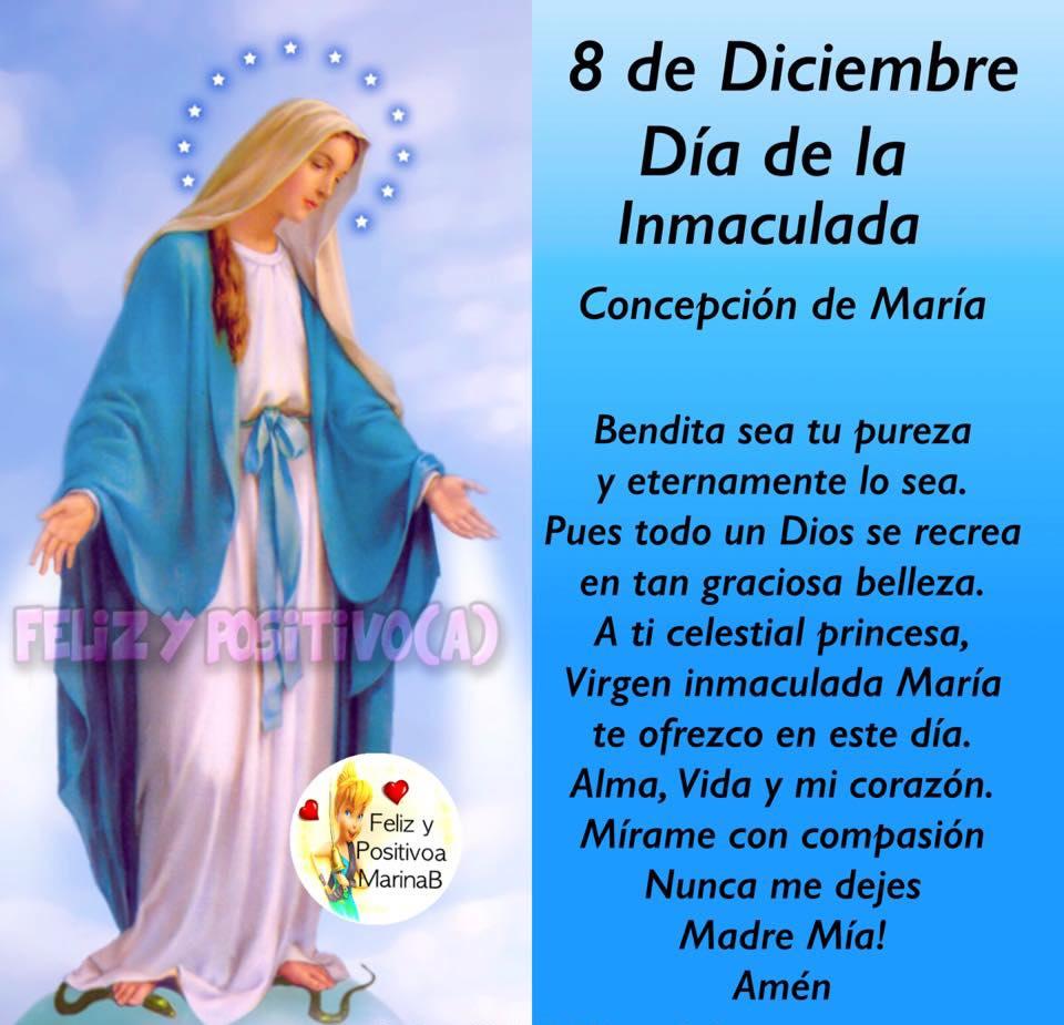 8 de Diciembre, Día de la Inmaculada Concepción de María