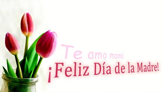 Te amo mamá. ¡Feliz Día de la Madre!