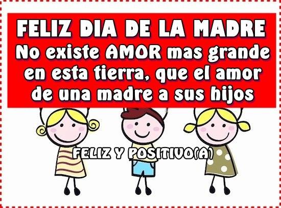 Feliz Día de la Madre! No existe amor mas grande en esta tierra, que el amor de una madre a sus hijos
