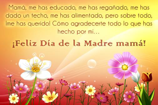 ¡Feliz Día de la Madre mamá!