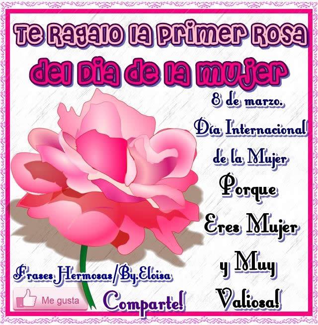 Te regalo la primer rosa del día de la mujer, porque eres mujer y muy valiosa!