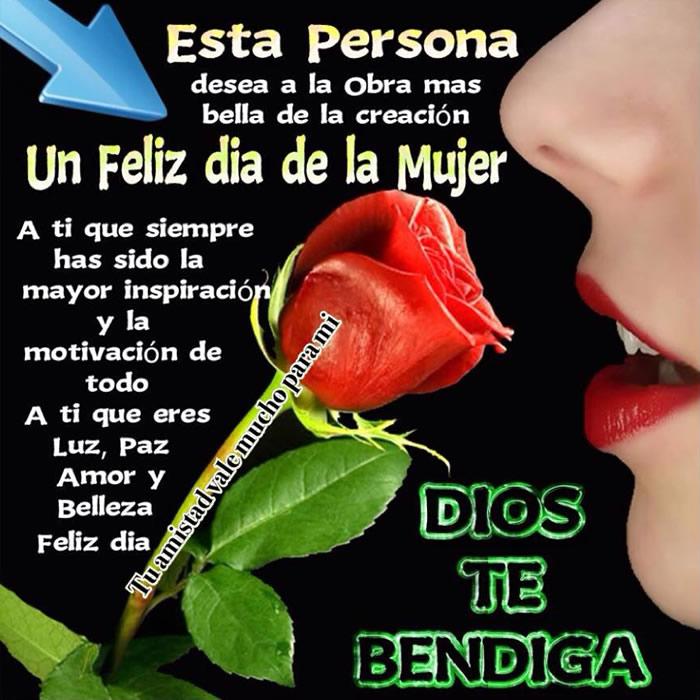 Feliz día de la Mujer, Dios te Bendiga